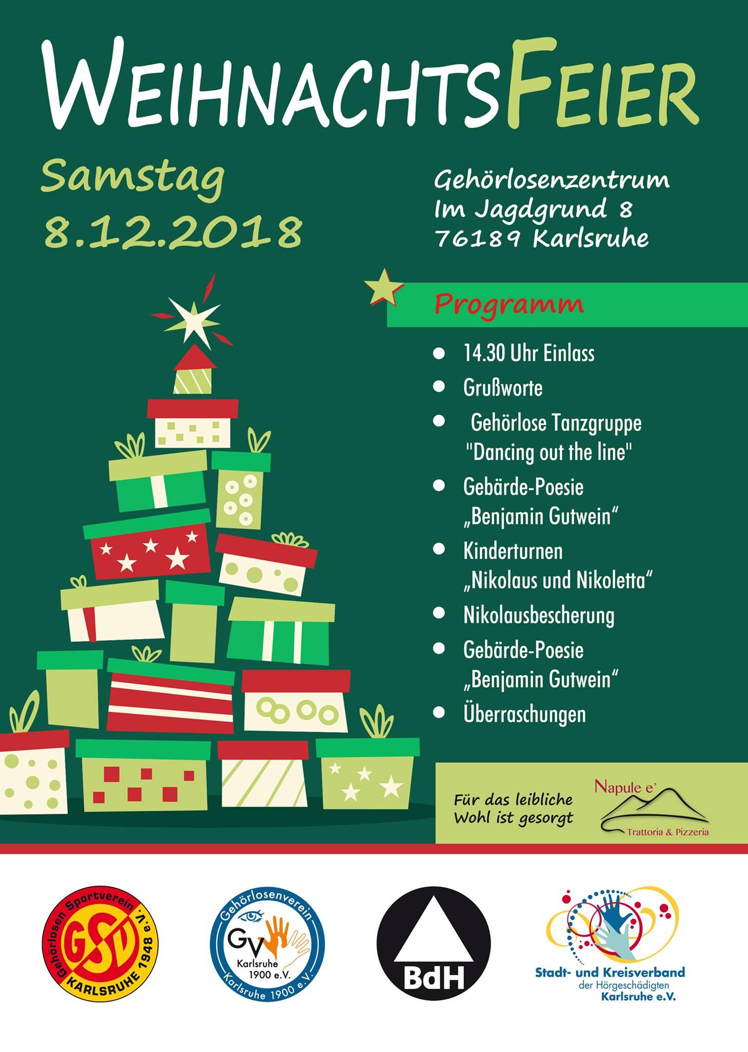 Weihnachtsfeier Karlsruhe.Weihnachtsfeier Gsv Karlsruhe